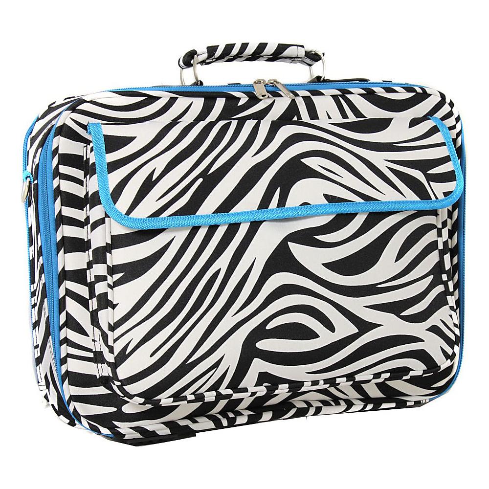 World Traveler Zebra 17 Laptop Case Blue Trim Zebra - World Traveler Non-Wheeled Business Cases - Work Bags & Briefcases, Non-Wheeled Business Cases