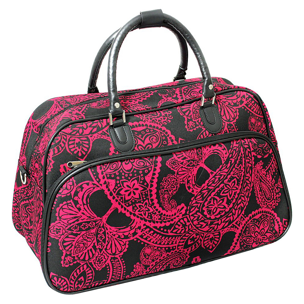 World Traveler Paisley 21 Carry-On Duffel Bag Black Pink Paisley - World Traveler Rolling Duffels - Luggage, Rolling Duffels