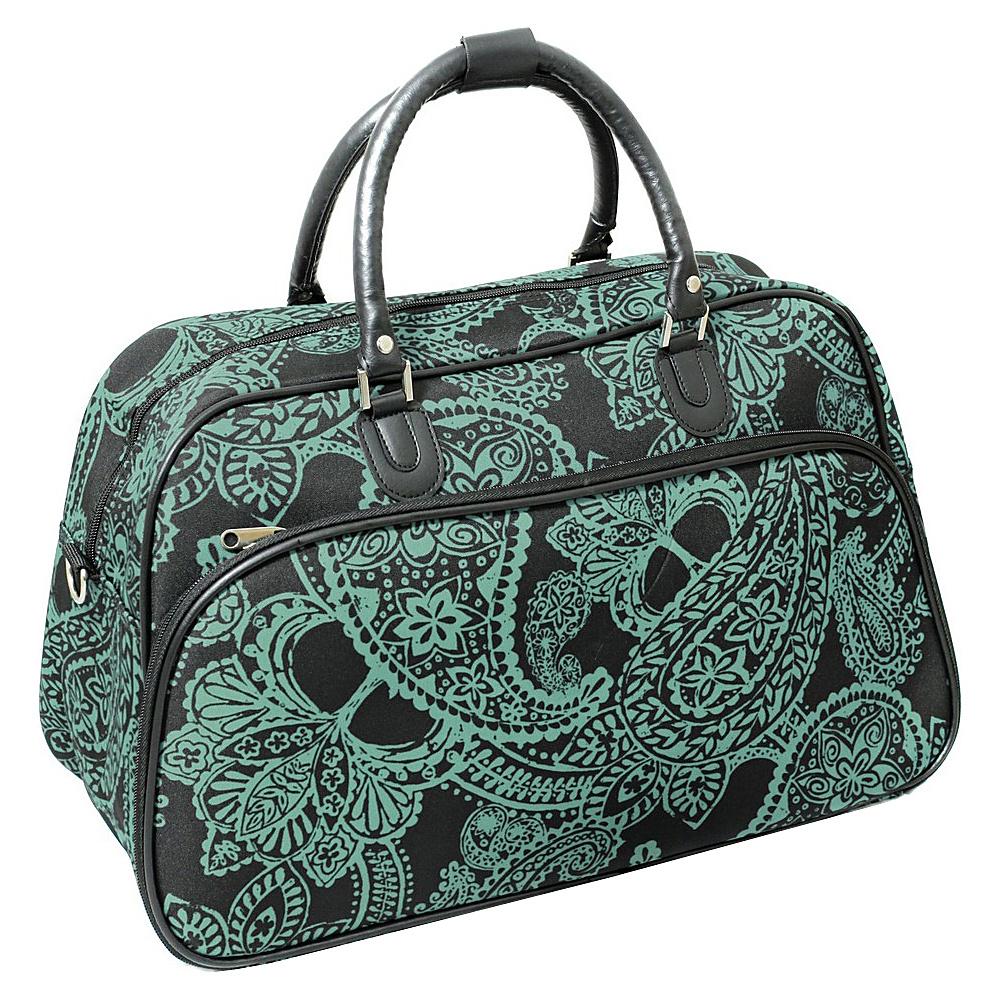 World Traveler Paisley 21 Carry-On Duffel Bag Black Blue Paisley - World Traveler Rolling Duffels - Luggage, Rolling Duffels