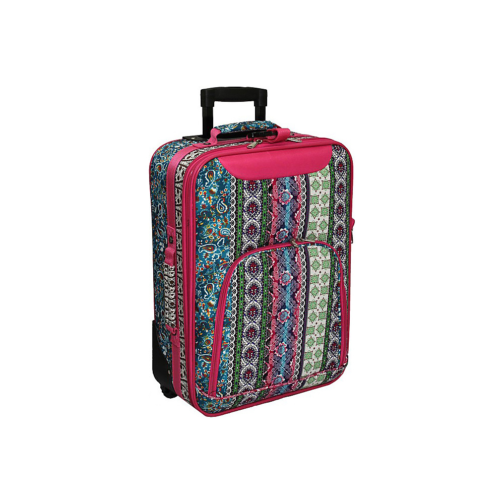 World Traveler Artisan 20 Rolling Carry-On Pink Trim Artisan - World Traveler Softside Carry-On - Luggage, Softside Carry-On