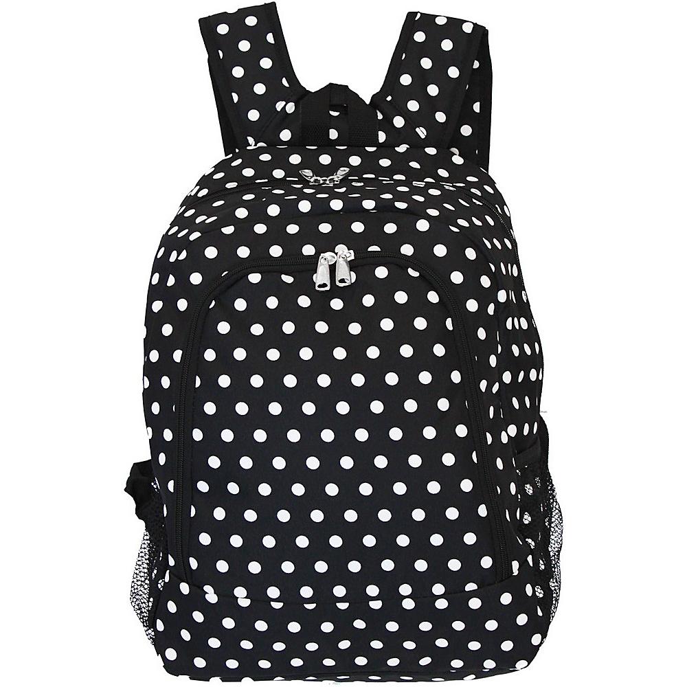 World Traveler Dots 16 Multipurpose Backpack Black White Dot - World Traveler Everyday Backpacks - Backpacks, Everyday Backpacks