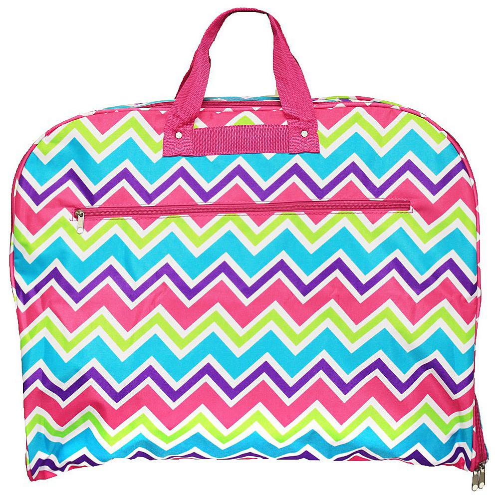 World Traveler Chevron Multi 40 Hanging Garment Bag Pink Trim Chevron Multi - World Traveler Garment Bags - Luggage, Garment Bags