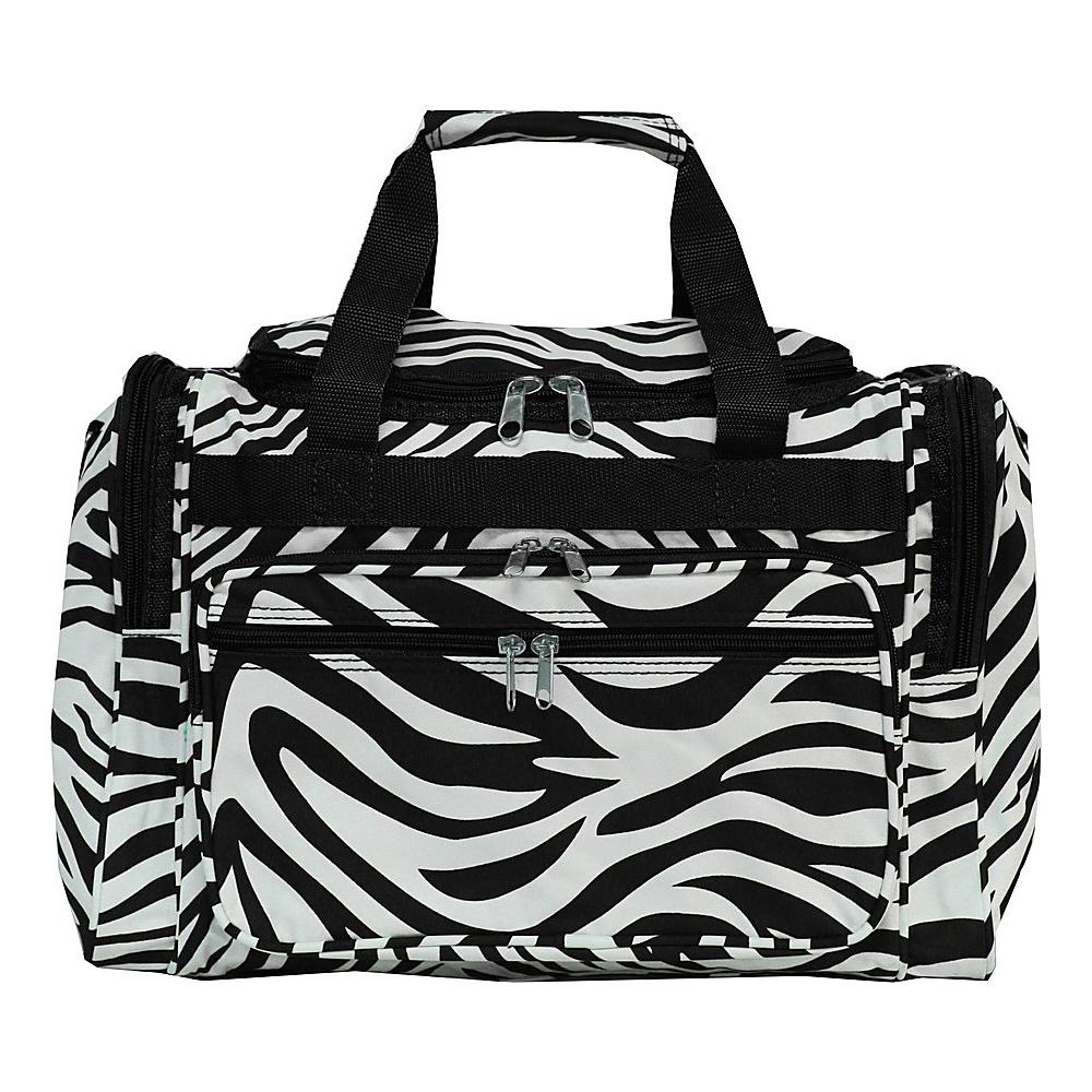 World Traveler Zebra 16 Shoulder Duffle Bag Black Trim Zebra - World Traveler Rolling Duffels - Luggage, Rolling Duffels