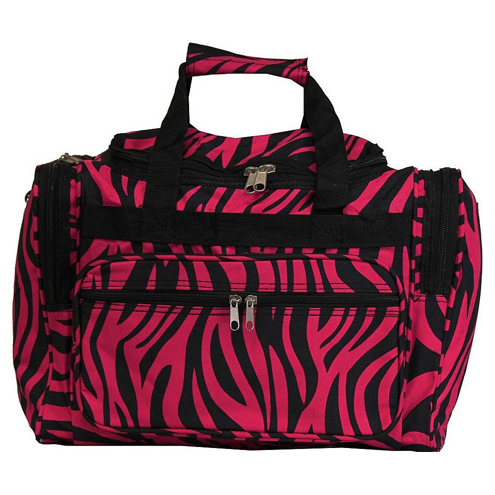 World Traveler Zebra 16 Shoulder Duffle Bag Fuchsia Black Zebra - World Traveler Rolling Duffels - Luggage, Rolling Duffels