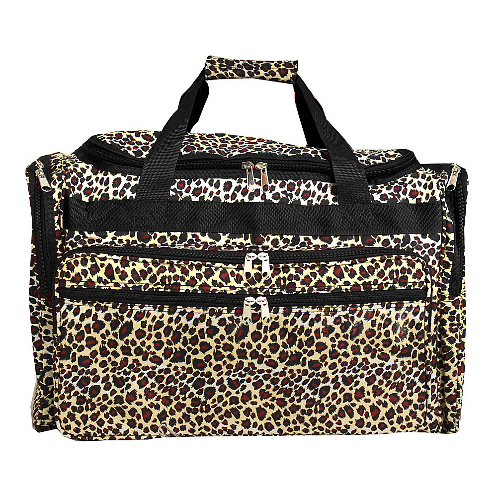 World Traveler Leopard 19 Shoulder Duffle Bag Leopard World Traveler Rolling Duffels
