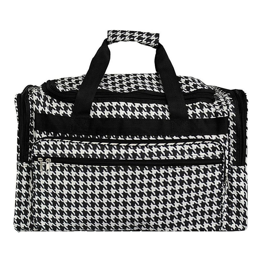World Traveler Houndstooth 19 Shoulder Duffle Bag Black Trim Houndstooth - World Traveler Rolling Duffels - Luggage, Rolling Duffels