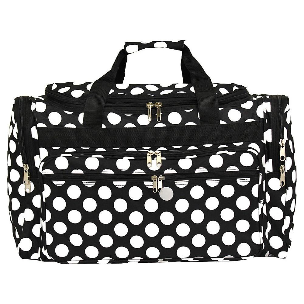 World Traveler Dots ll 22 Travel Duffle Bag Black White Dot II - World Traveler Rolling Duffels - Luggage, Rolling Duffels