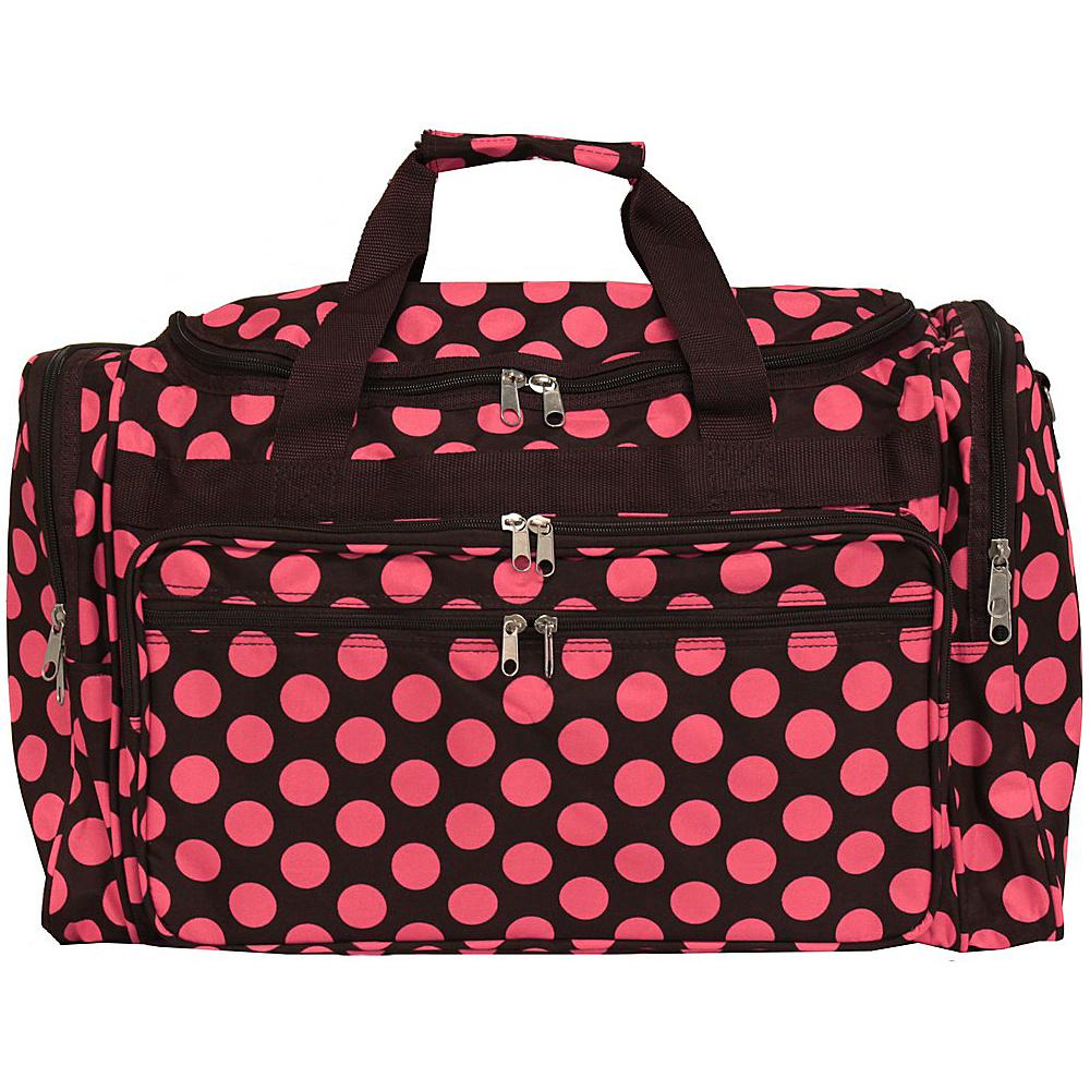 World Traveler Dots ll 22 Travel Duffle Bag Brown Pink Dot II - World Traveler Rolling Duffels - Luggage, Rolling Duffels