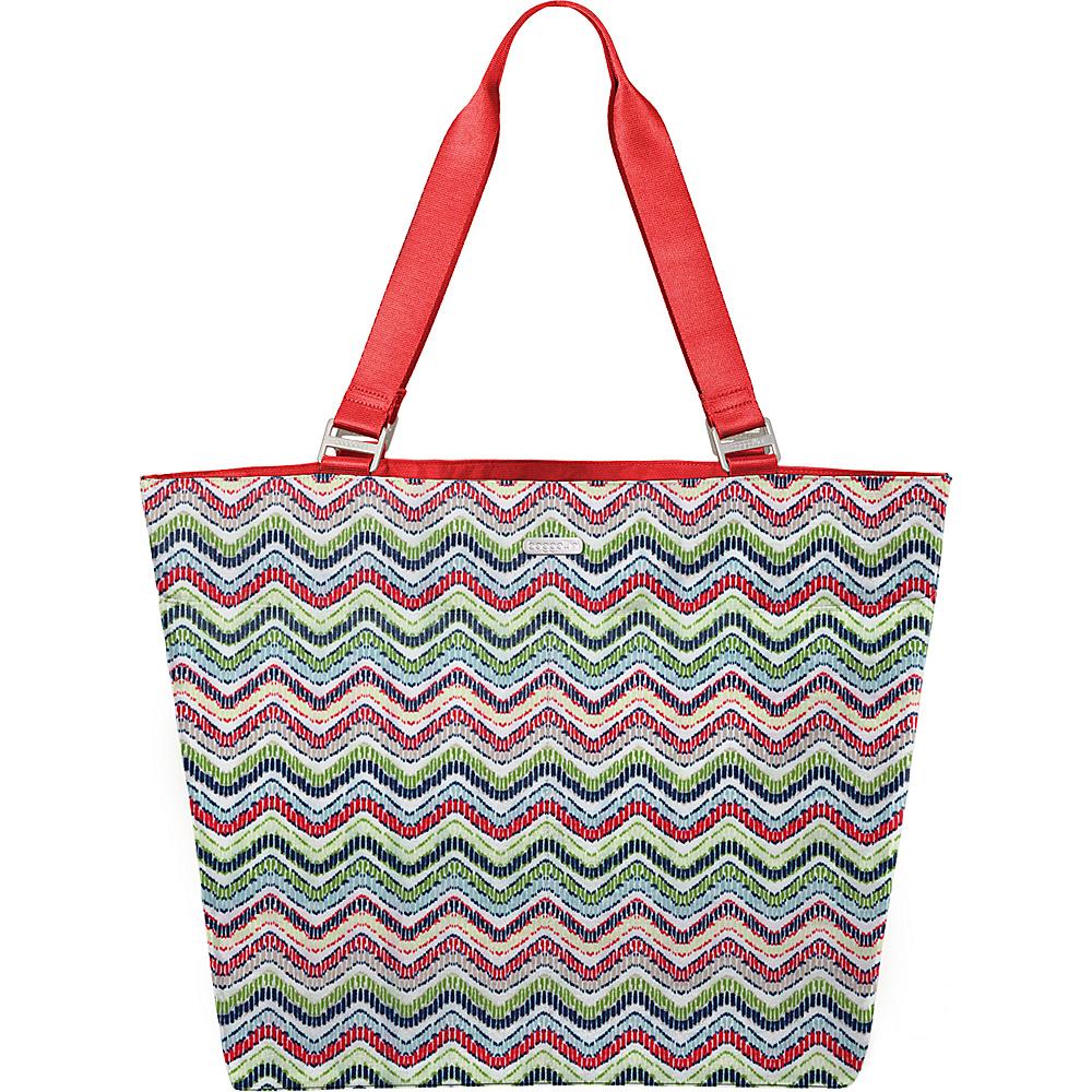 baggallini Carry All Tote Wave Print Multi - baggallini Fabric Handbags - Handbags, Fabric Handbags