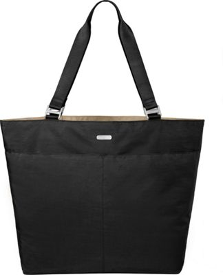 baggallini Carry All Tote Black/Sand - baggallini Fabric Handbags