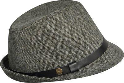 Karen Kane Hats Tweed Snapback Fedora Black Tweed - Karen Kane Hats Hats/Gloves/Scarves
