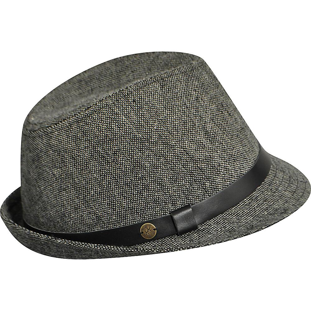 Karen Kane Hats Tweed Snapback Fedora Black Tweed Karen Kane Hats Hats Gloves Scarves