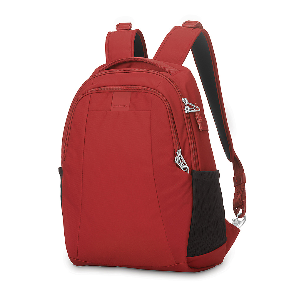 Pacsafe Metrosafe LS350 Anti-Theft 15L Backpack Vintage Red - Pacsafe Business & Laptop Backpacks