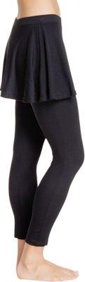 Magid Cotton Flary Skirt Leggings 1X/2X - Black - Extra Extra Large - Magid Women's Apparel