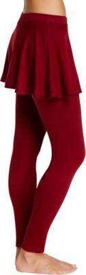 Magid Cotton Flary Skirt Leggings S/M - Maroon - Large/Extra Large - Magid Women's Apparel
