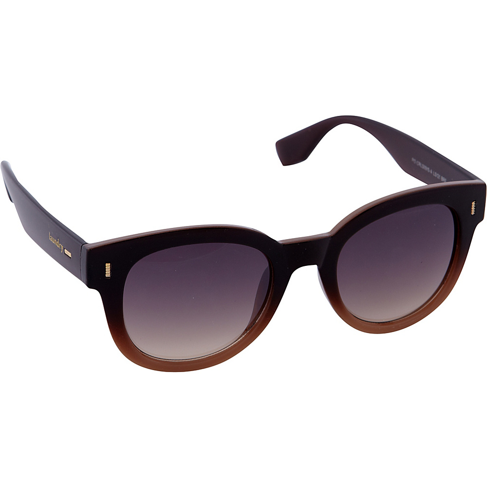 Laundry by Shelli Segal Sunglasses Retro Logo Sunglasses Brown Fade - Laundry by Shelli Segal Sunglasses Sunglasses
