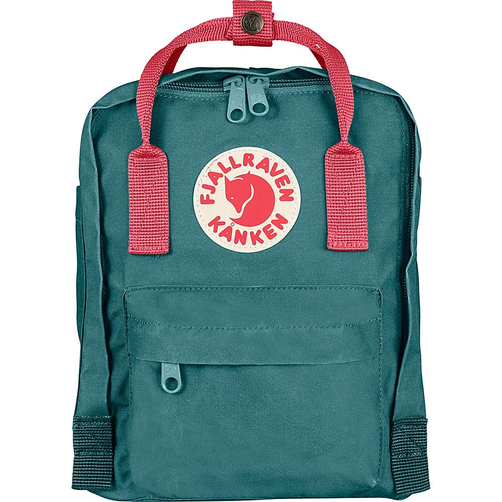 Fjallraven Kanken Mini Backpack Frost Green Peach Pink Fjallraven Everyday Backpacks