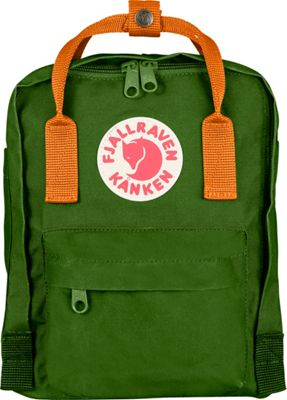 Fjallraven Kanken Mini Backpack Leaf Green-Burnt Orange - Fjallraven Everyday Backpacks
