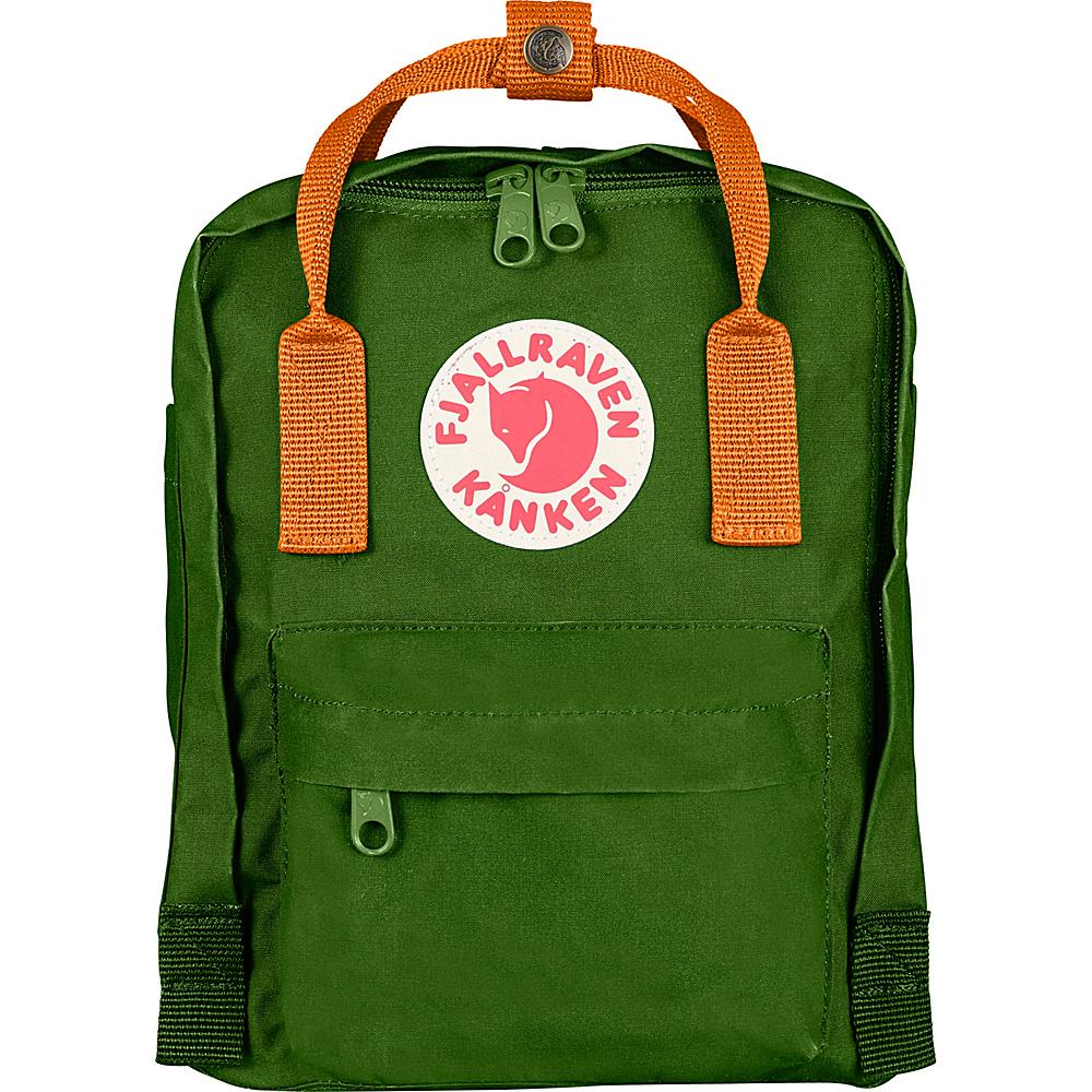 Fjallraven Kanken Mini Backpack Leaf Green-Burnt Orange - Fjallraven Everyday Backpacks - Backpacks, Everyday Backpacks
