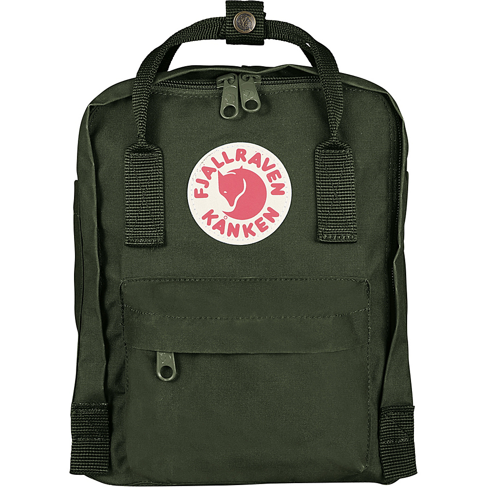 Fjallraven Kanken Mini Backpack Forest Green - Fjallraven Everyday Backpacks