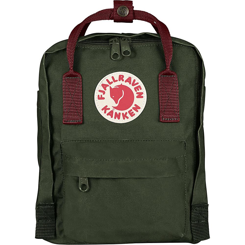 Fjallraven Kanken Mini Backpack Forest Green-Ox Red - Fjallraven Everyday Backpacks - Backpacks, Everyday Backpacks