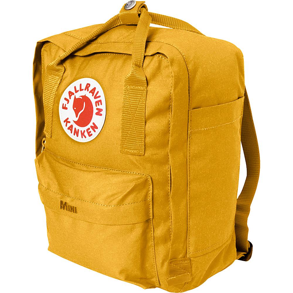 Fjallraven Kanken Mini Backpack Ochre Fjallraven Everyday Backpacks