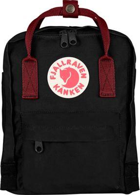 Fjallraven Kanken Mini Backpack Black-Ox Red - Fjallraven Everyday Backpacks