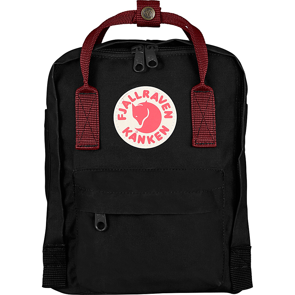 Fjallraven Kanken Mini Backpack Black-Ox Red - Fjallraven Everyday Backpacks