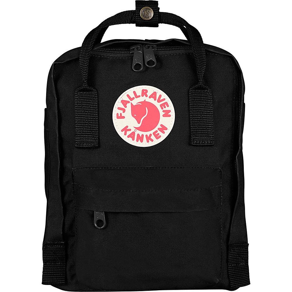 Fjallraven Kanken Mini Backpack Black - Fjallraven Everyday Backpacks - Backpacks, Everyday Backpacks