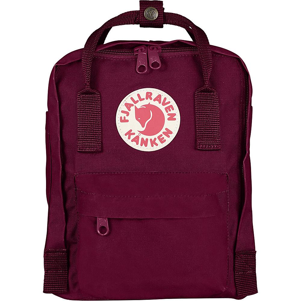 Fjallraven Kanken Mini Backpack Plum - Fjallraven Everyday Backpacks - Backpacks, Everyday Backpacks