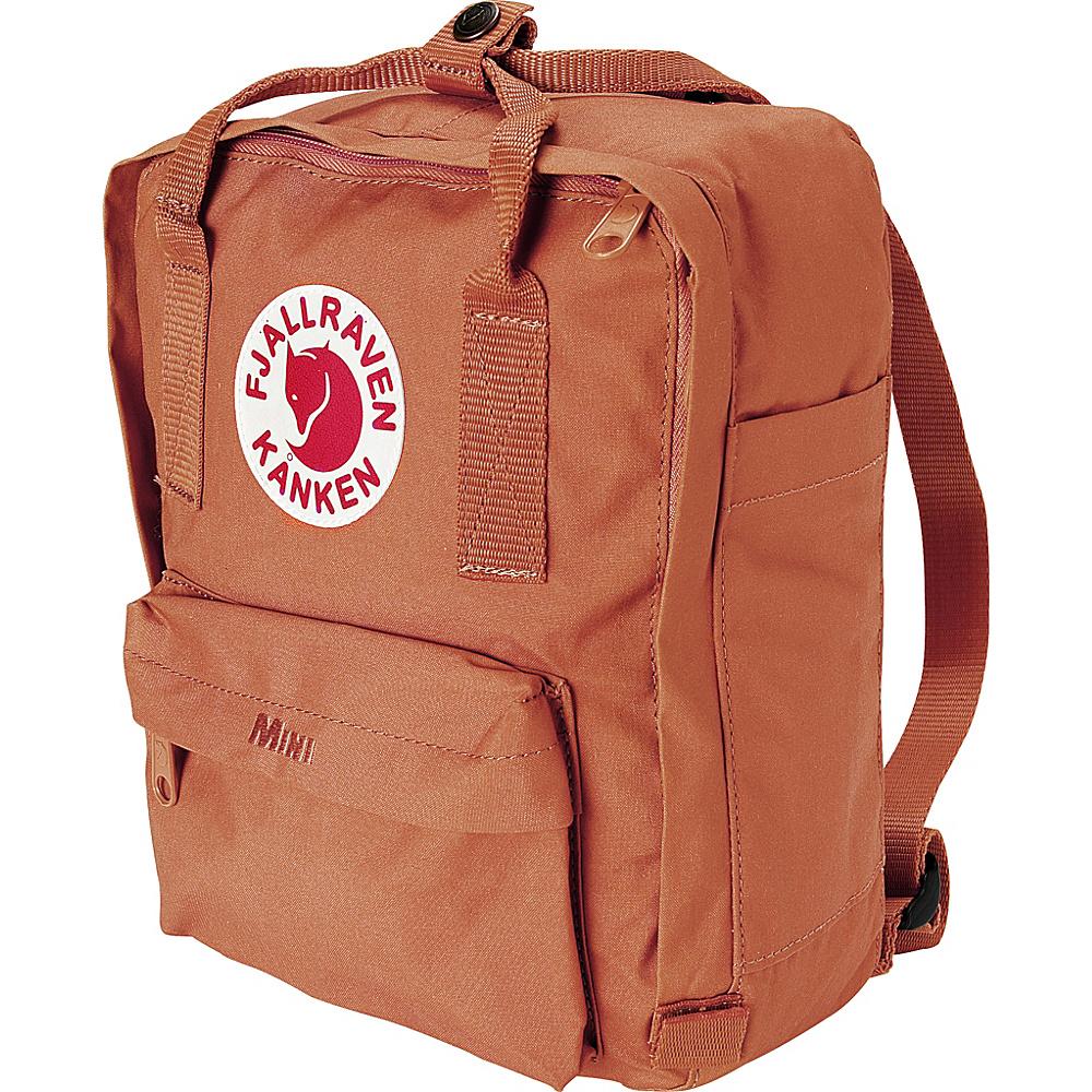 Fjallraven Kanken Mini Backpack Brick Fjallraven Everyday Backpacks
