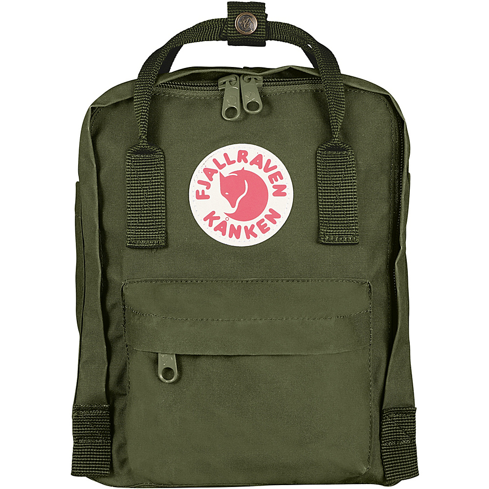 Fjallraven Kanken Mini Backpack Green - Fjallraven Everyday Backpacks - Backpacks, Everyday Backpacks