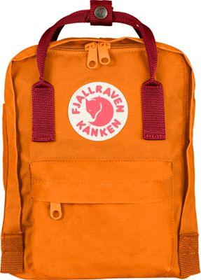 Fjallraven Kanken Mini Backpack Burnt Orange-Deep Red - Fjallraven Everyday Backpacks