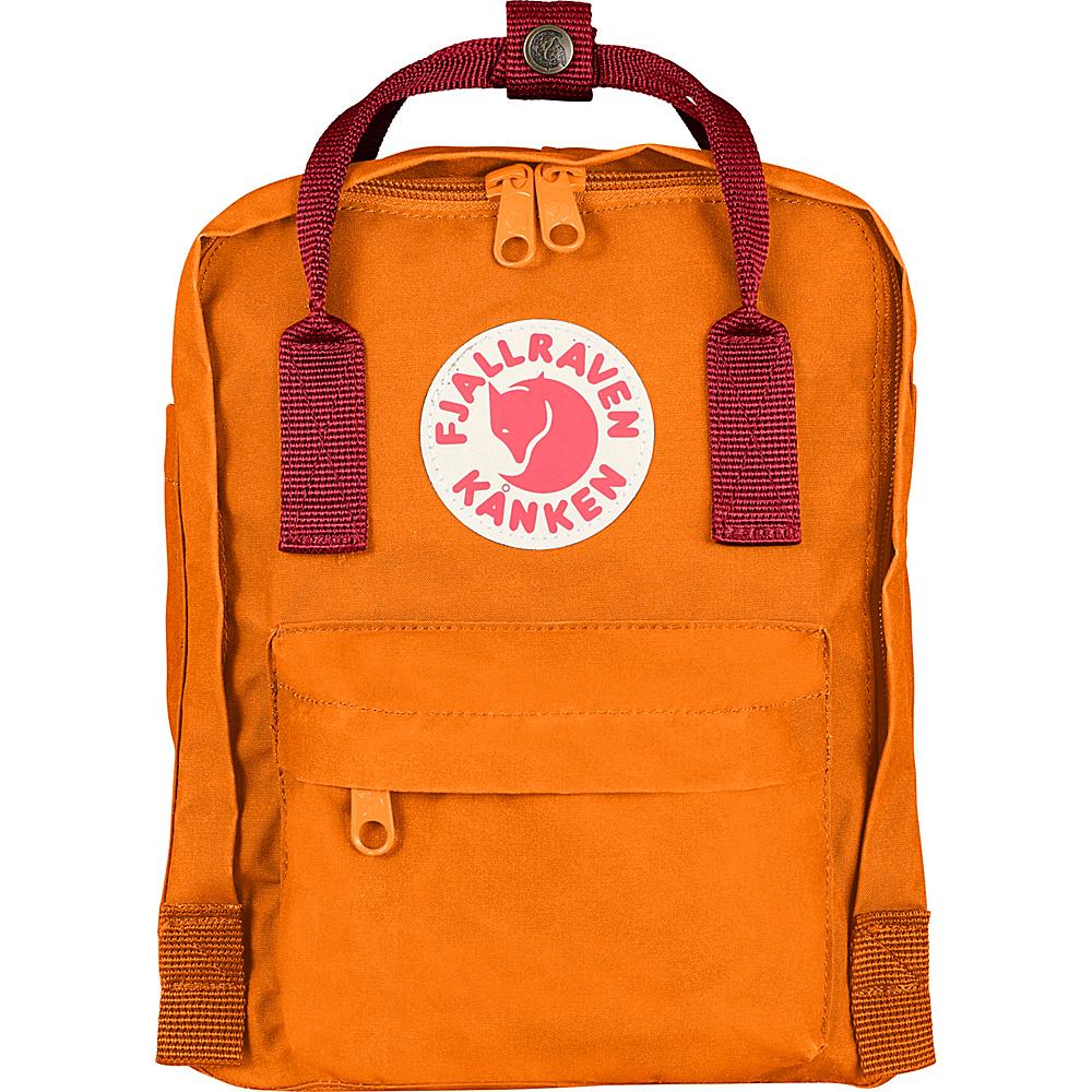 Fjallraven Kanken Mini Backpack Burnt Orange Deep Red Fjallraven Everyday Backpacks