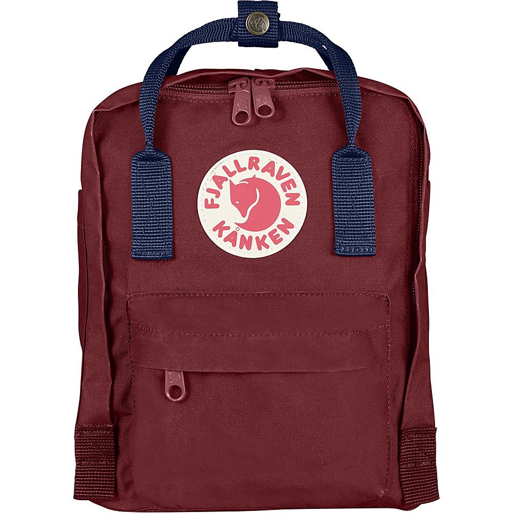 Fjallraven Kanken Mini Backpack Ox Red-Royal Blue - Fjallraven Everyday Backpacks - Backpacks, Everyday Backpacks