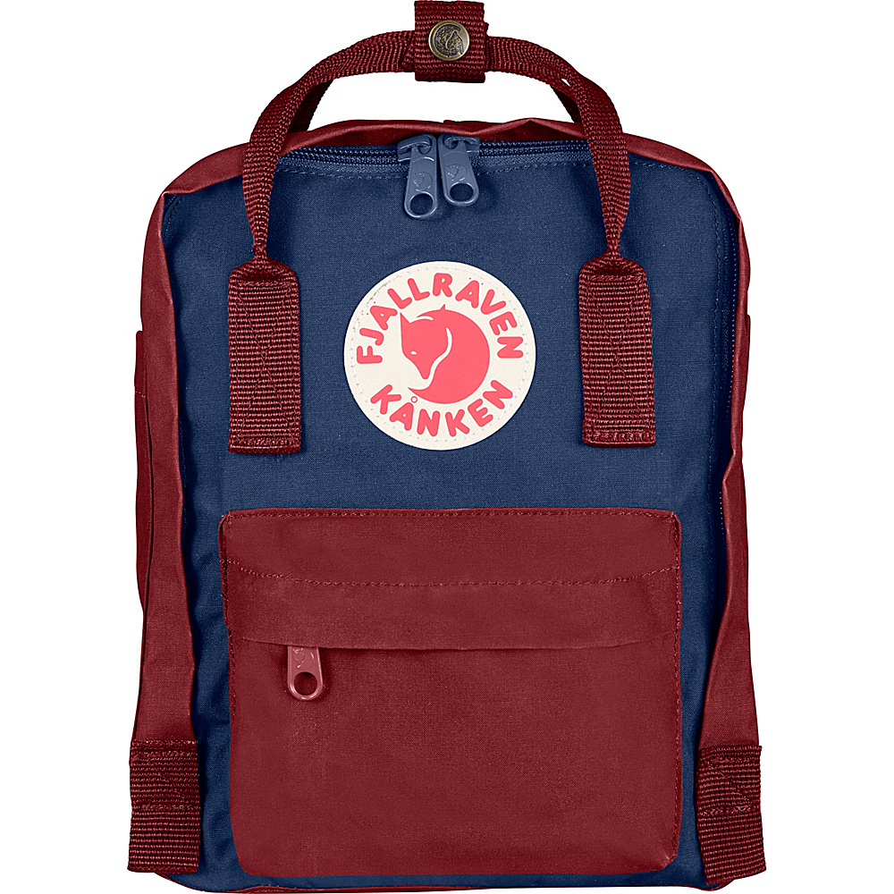 Fjallraven Kanken Mini Backpack Royal Blue-Ox Red - Fjallraven Everyday Backpacks
