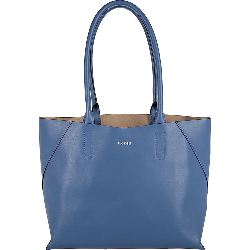 Lodis Blair Cynthia Tote Denim/Taupe - Lodis Leather Handbags - Handbags, Leather Handbags