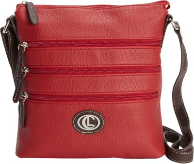 Aurielle-Carryland Zipgeist Crossbody Red - Aurielle-Carryland Manmade Handbags