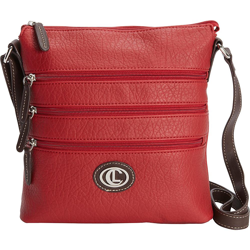 Aurielle Carryland Zipgeist Crossbody Red Aurielle Carryland Manmade Handbags