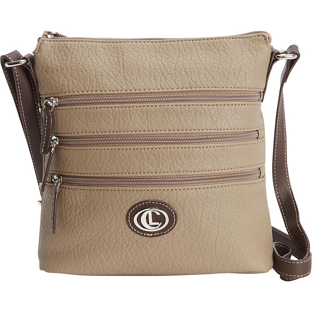 Aurielle Carryland Zipgeist Crossbody Cappuccino Aurielle Carryland Manmade Handbags