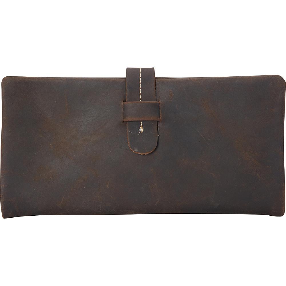 Vagabond Traveler Leather Slim Long Wallet Dark Brown - Vagabond Traveler Womens Wallets - Women's SLG, Women's Wallets