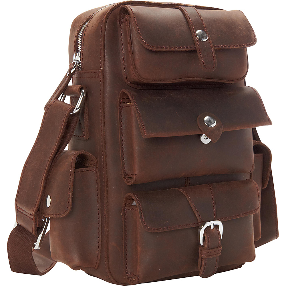 Vagabond Traveler Insect Style Cowhide Leather Shoulder Bag Dark Brown - Vagabond Traveler Other Mens Bags - Work Bags & Briefcases, Other Men's Bags