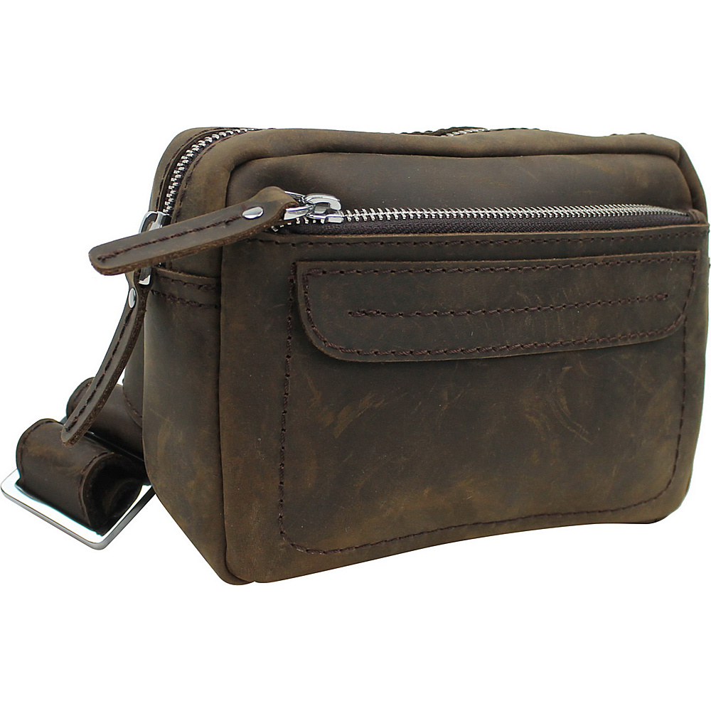 Vagabond Traveler Fashion Leather Waistpack Distress - Vagabond Traveler Waist Packs - Backpacks, Waist Packs