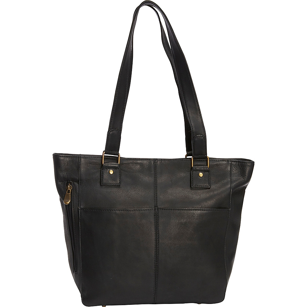 Le Donne Leather Garrowby Tote Black - Le Donne Leather Leather Handbags - Handbags, Leather Handbags