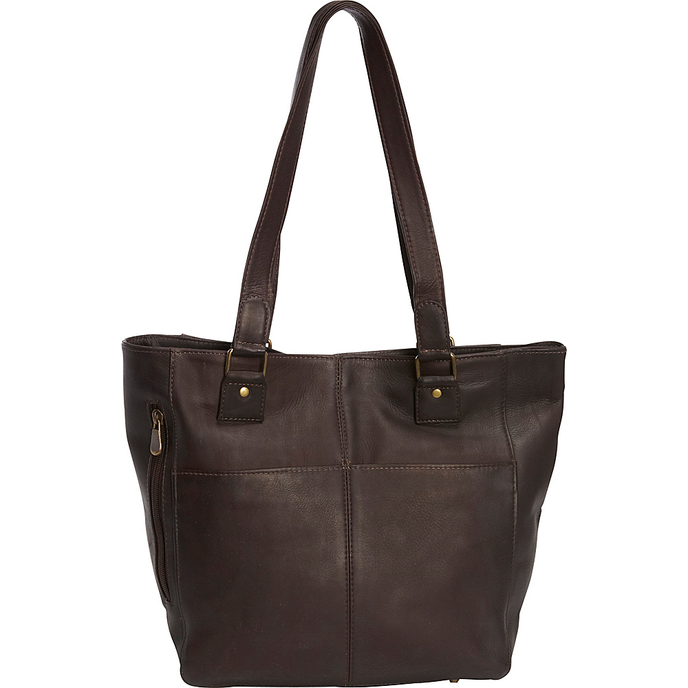 Le Donne Leather Garrowby Tote Cafe - Le Donne Leather Leather Handbags - Handbags, Leather Handbags