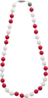Itzy Ritzy Teething Happens Round Bead Necklace Game Day Red - Itzy Ritzy Diaper Bags & Accessories