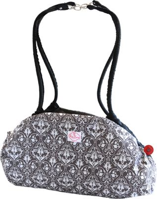 Image of 2 Red Hens Toy Nanny Grey Damask - 2 Red Hens Diaper and Baby Accessories