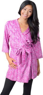 Soybu Fleece Spa Robe L/XL - Purple Script - Soybu Women's Apparel