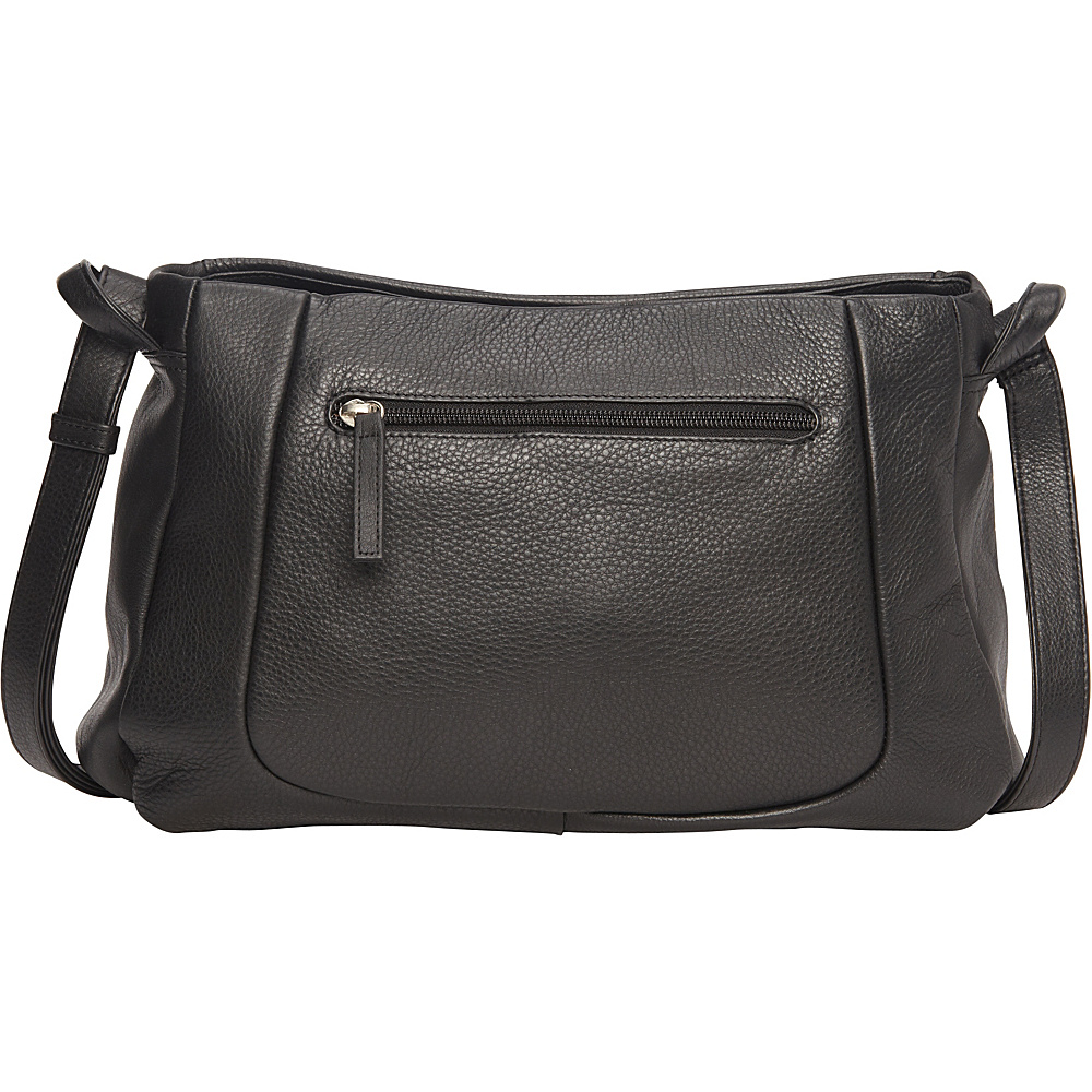 Derek Alexander EW Crossbody Three Comp w/ Organizer Black - Derek Alexander Leather Handbags - Handbags, Leather Handbags