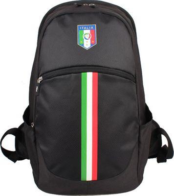 Federazione Italiana Giuoco Calcio Backpack Vertical Stripe Black - Federazione Italiana Giuoco Calcio Business & Laptop Backpacks